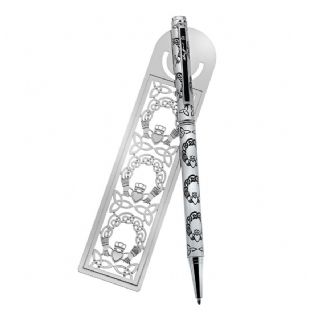 Pen & Bookmark Irish Claddagh Design